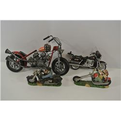 Four motorcycle models
