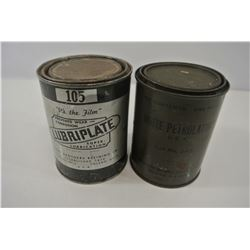 White Petrolatum and Lubriplate Cans