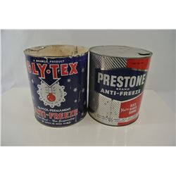 Prestone and Gly-Tex Anti-Freeze Cans