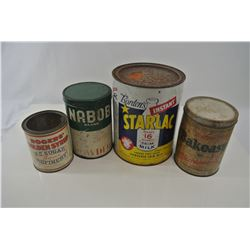 Miscellaneous Ingredients Tins