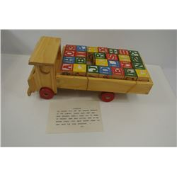 Vintage Wood Block Toy