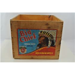 Big Chief Wooden Apple Crate