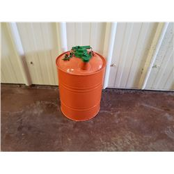 NO RESERVE CUSTOM ORANGE AND GREEN JERRY CAN