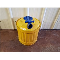 NO RESERVE CUSTOM YELLOW AND BLUE GAS CAN