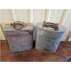 NO RESERVE ANTIQUE GAS CANS TWO SELLING AS ONE LOT