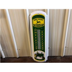 NO RESERVE JOHN DEERE LARGE THERMOMETER