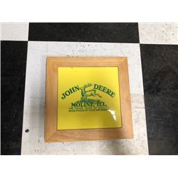 NO RESERVE JOHN DEERE MOLINE, ILL PICTURE FRAMED IN WOOD