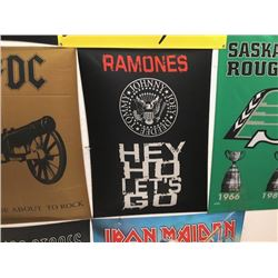 NO RESERVE HEY HO LETS GO RAMONES COLLECTIBLE FLAG