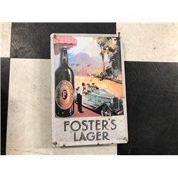 NO RESERVE VINTAGE FOSTERS LAGER COLLECTIBLE SIGN
