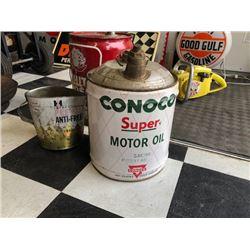 NO RESERVE CONOCO SUPER MOTOR OIL CAN
