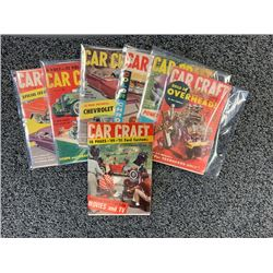 NO RESERVE 7 ISSUES RARE 1957 CAR CRAFT MAGAZINES