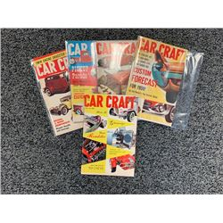 NO RESERVE 1959 5 ISSUES RARE CAR CRAFT COLLECTIBLE MAGAZINE