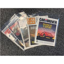 NO RESERVE 5 ISSUES ASSORTED CAR MAGAZINES 1961-2006