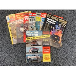 NO RESERVE RARE VINTAGE 1958-1962 MOTOR TREND MAGAZINES 20 ISSUES