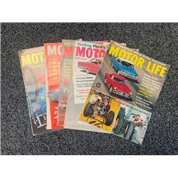 NO RESERVE 1960/61 VINTAGE MOTOR LIFE RARE MAGAZINES 5 ISSUES