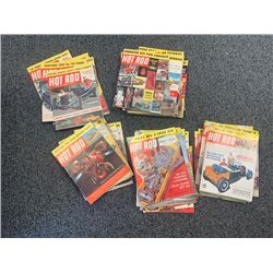 NO RESERVE HUGE LOT OF VINTAGE COLLECTIBLE 1958-1962 HOT ROD MAGAZINES