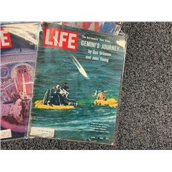 NO RESERVE 9 ISSUES OF VINTAGE LIFE MAGAZINE 1965-72
