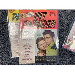 NO RESERVE VINTAGE ORIGINAL RARE HIT PARADE MAGAZINES INCLUDING THE ELVIS PRESLEY COVER
