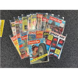 NO RESERVE VINTAGE SPEED AGE MAGAZINES 1955-1958