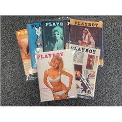 NO RESERVE 1964 PLAYBOY MAGAZINES 7 ISSUES IN GOOD TO  EXCELLENT ORIGINAL CONDITION