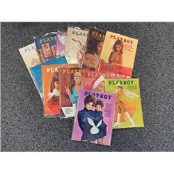 NO RESERVE 1970 PLAYBOY MAGAZINES 12 ISSUES IN GOOD TO EXCELLENT ORIGINAL CONDITION