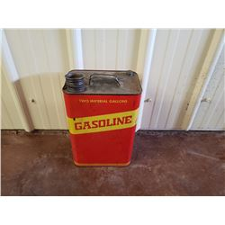 NO RESERVE TWO IMPERIAL GALLONS GASOLINE CAN