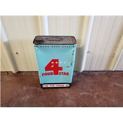 NO RESERVE VINTAGE 4 STAR LINSEED OIL CAN