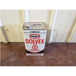 NO RESERVE VINTAGE TEXACO SOLVEX CAN