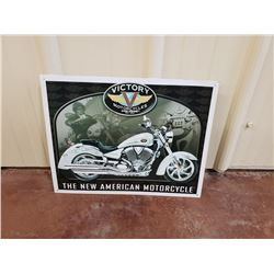 NO RESERVE VICTORY MOTORCYCLES COLLECTIBLE SIGN
