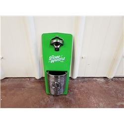 NO RESERVE STEAM WHISTLE PILSNER COLLECTIBLE BOTTLE OPENER WALL MOUNT