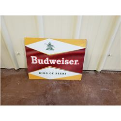 NO RESERVE BUDWEISER KING OF BEERS COLLECTIBLE SIGN