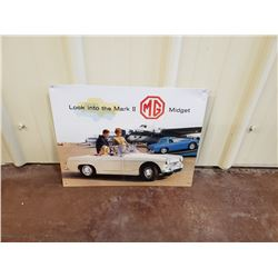NO RESERVE MARK II MG MIDGET COLLECTIBLE SIGN