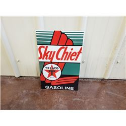 NO RESERVE SKYCHIEF TEXACO GASOLINE COLLECTIBLE SIGN