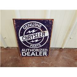 NO RESERVE VINTAGE CHRYSLER GENUINE PARTS COLLECTIBLE SIGN