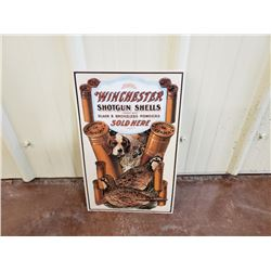 NO RESERVE WINCHESTER SHOTGUN SHELLS COLLECTIBLE SIGN