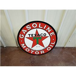 NO RESERVE LARGE TEXACO MOTOR OIL COLLECTIBLE SIGN