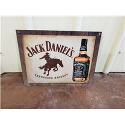 NO RESERVE JACK DANIELS COLLECTIBLE SIGN
