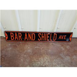 NO RESERVE BAR AND SHIELD AVE COLLECTIBLE BANNER SIGN