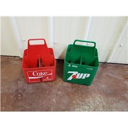 NO RESERVE VINTAGE POP CARRIERS COKE AND 7UP