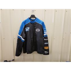 NO RESERVE LEATHER NASCAR RACING JACKET FEATURING RYAN NEWMAN