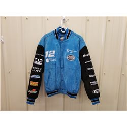 NO RESERVE SUEDE NASCAR RACING JACKET RYAN NEWMAN