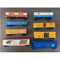 NO RESERVE CIRCA HIGHLY COLLECTIBLE 1970S 8 VINTAGE RAIL CARS