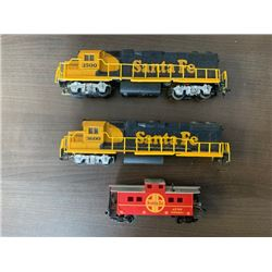 NO RESERVE TWO VINTAGE SANTA FE LOCOMOTIVES  SANATA FE CABOOSE