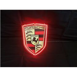 NO RESERVE PORSCHE LIGHT UP COLLECTIBLE SIGN