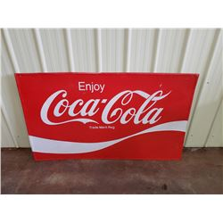 NO RESERVE VINTAGE LARGE COCA COLA SIGN