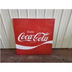 NO RESERVE VINTAGE LARGE METAL COCA COLA SIGN