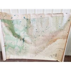 NO RESERVE VINTAGE EXTRA LARGE MAP OF ALBERTA