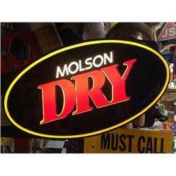 NO RESERVE MOLSON DRY LED SIGN