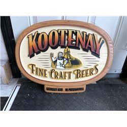 NO RESERVE WOODEN COLLECTIBLE SIGN KOOTNEY FINE CRAFT BEERS