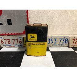 NO RESERVE VINTAGE JOHN DEERE SPECIAL PURPOSE OIL CAN